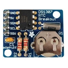 Kit Batterie + Horloge Temps Réel - DS1307 Assemblé