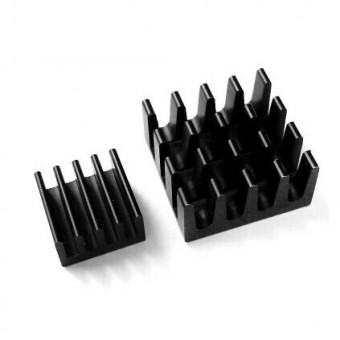 Set de 2 Heat Sink aluminium Noir