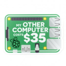 "Sticker ""My other computer..."""
