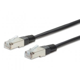 5M BLACK PATCH LEAD, CAT 5E