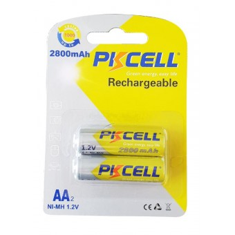 Pack 2 piles rechargeables AA PKCELL