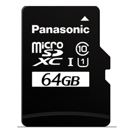 Carte officielle micro-SD NOOBS 64GB classe A1 Panasonic
