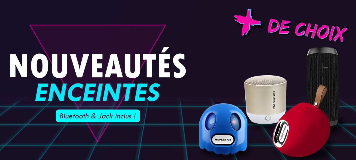Bluetooth et jack inclus !